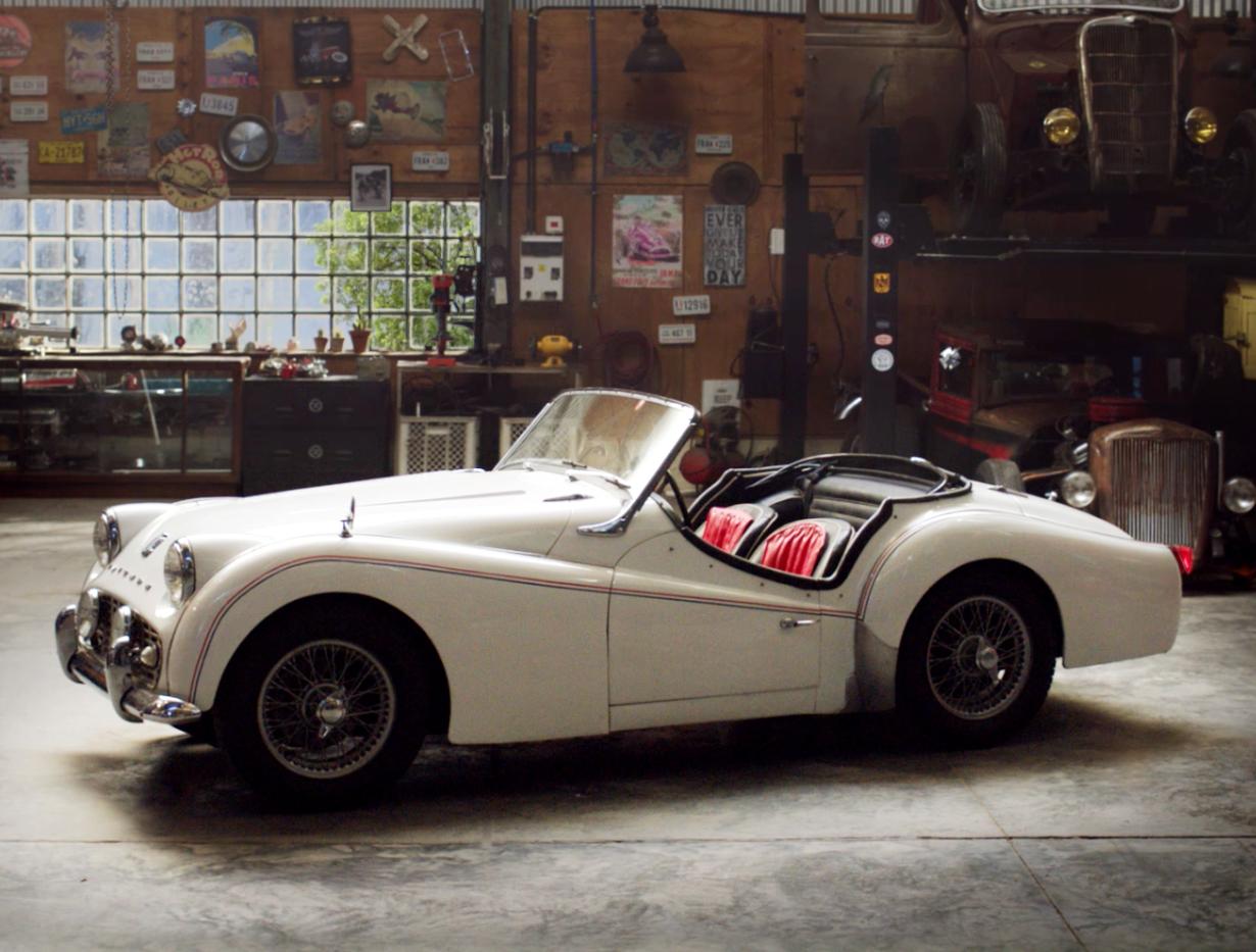 Vintage-Autowerkstatt