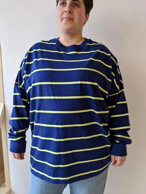 T-shirt ligné manches longues XL