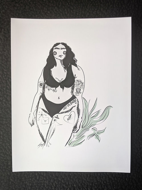 Illustration Fat Babe II