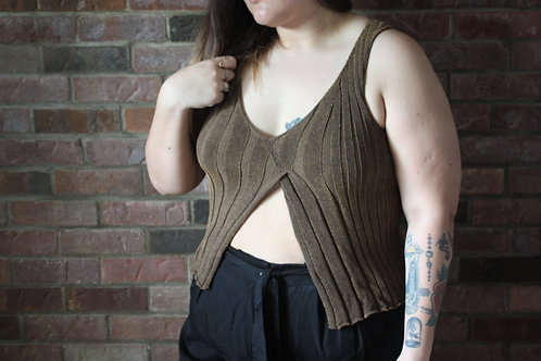 Camisole en tricot asymetrique XL
