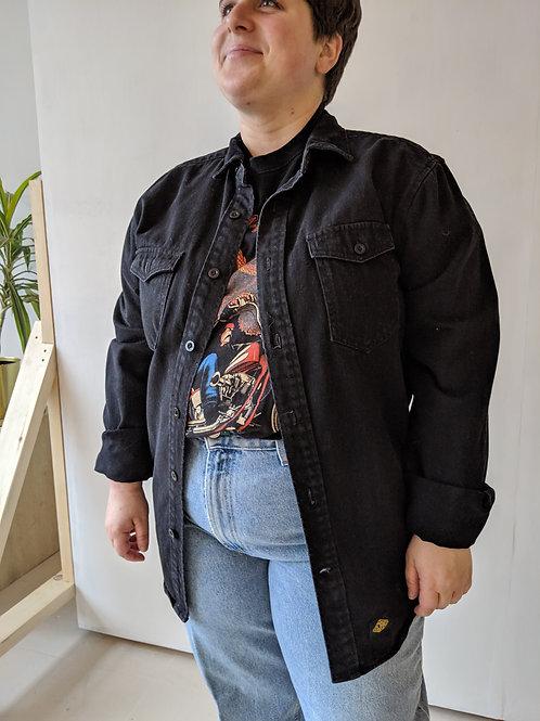 Veste jeans noir Djab