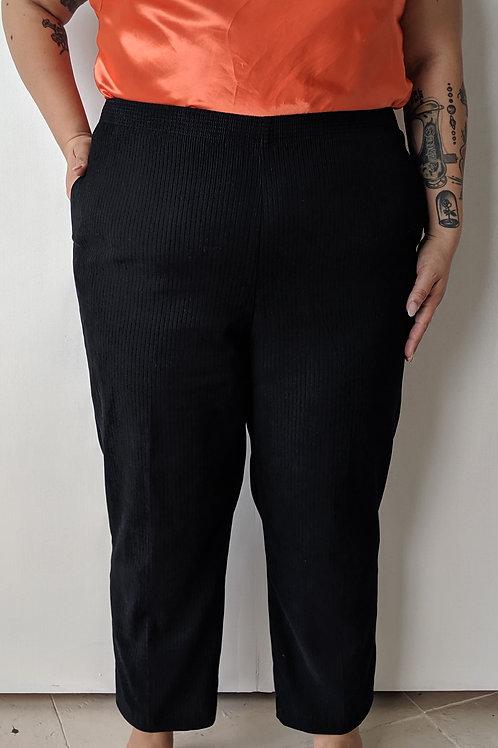 Pantalon noir texturé gr. XXL