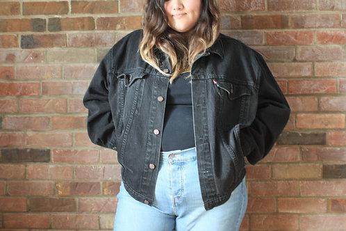Levi's Vintage veste en jean noir XL