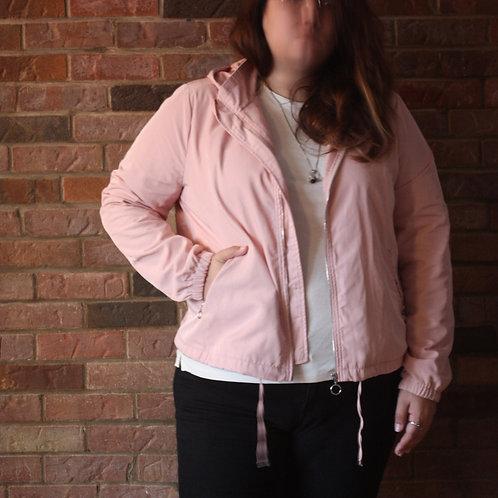 Veste à capuchon rose pâle gr. 2X