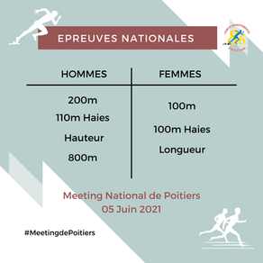 La liste des épreuves nationales