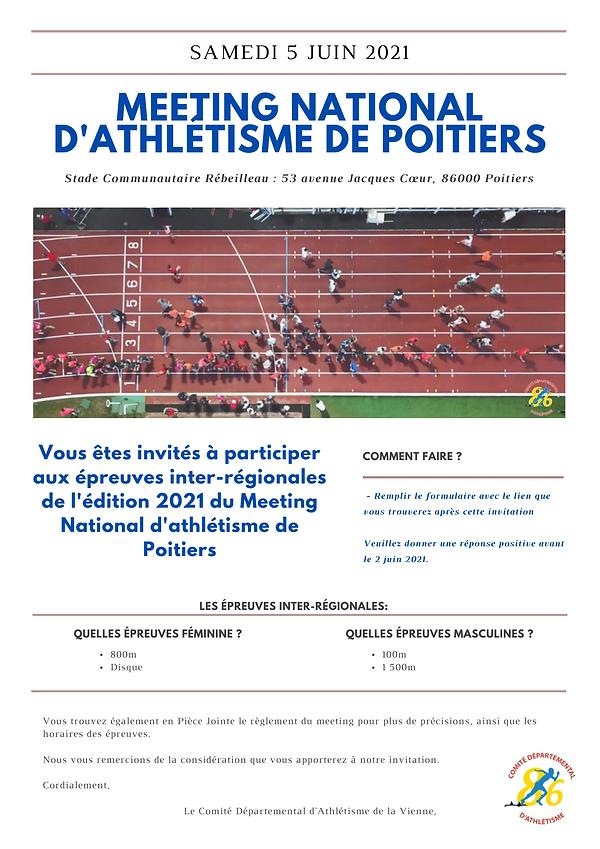 Mail invitations athlètes inter-régionau