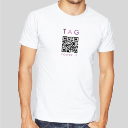 """Tag You're It"" QR Code T-Shirt"
