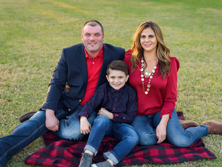 Family of three | Fall Family Pictures | Cypress Family Photographer