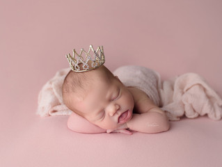 Pink Newborn Girl Session | Cypress Newborn Photographer