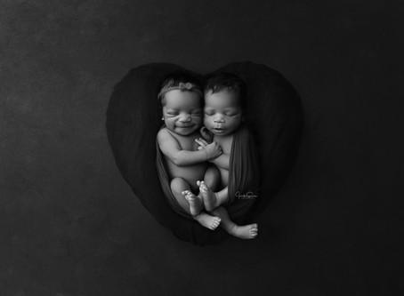 Newborn Twin Portraits   Cypress Newborn Photographer