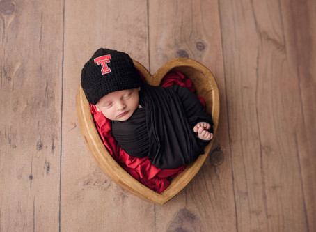 Newborn Sports Themed Session | Houston Newborn Photographer | Jennifer Spencer Photography