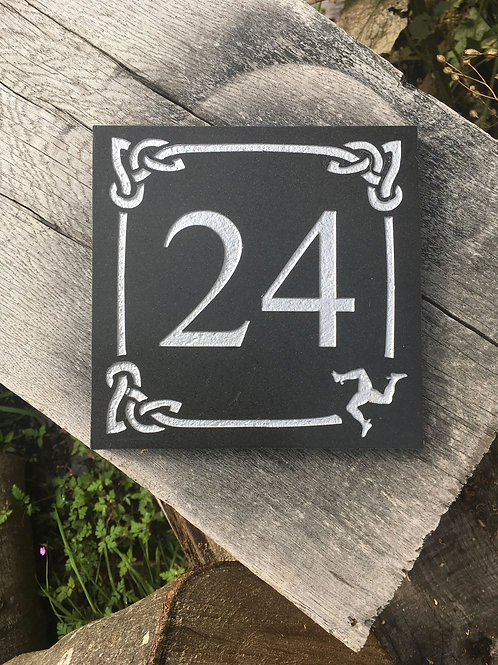 1 or 2 digit celtic stone number sign