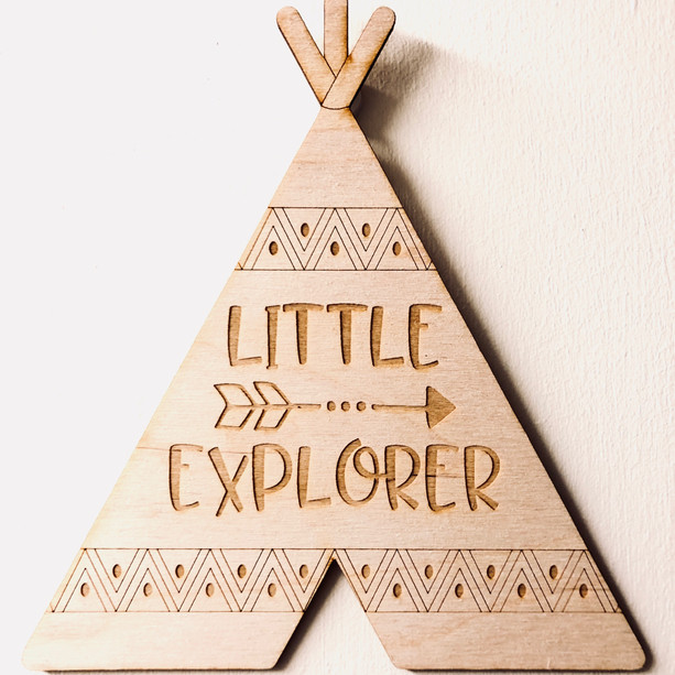 Little Explorer Teepee Hanging Sign