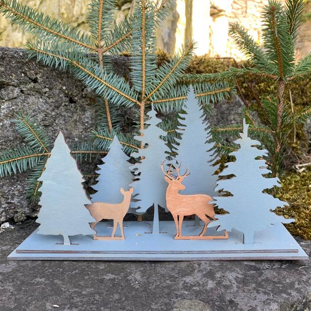 Winter Woodland Scene