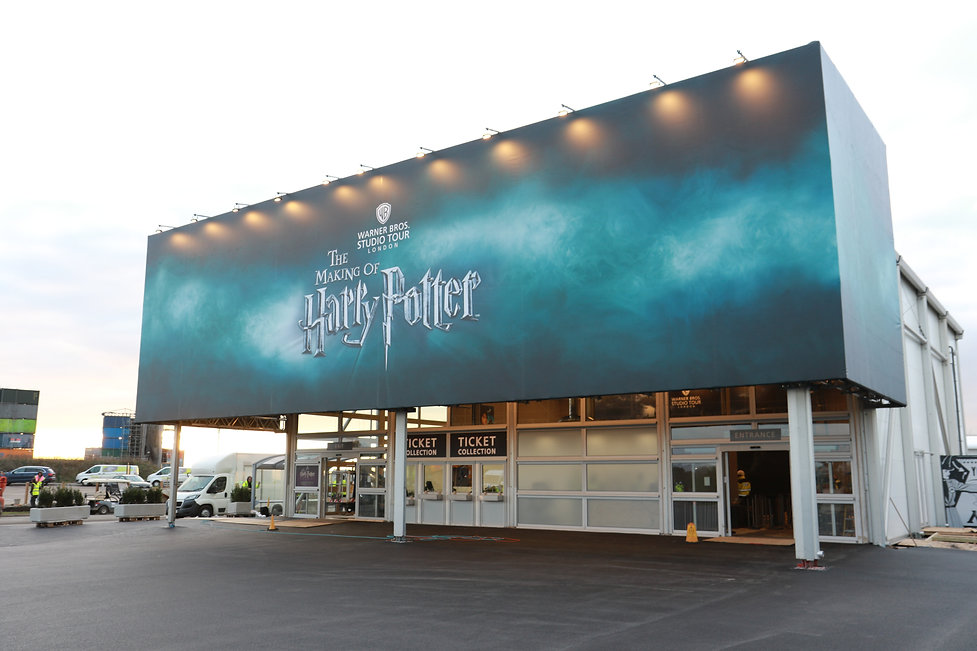 Large exterior signage for Harry Potter Tour London