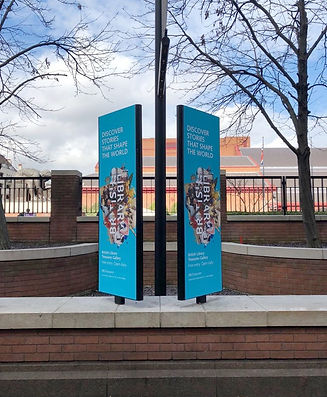 Exterior signage for The British Library