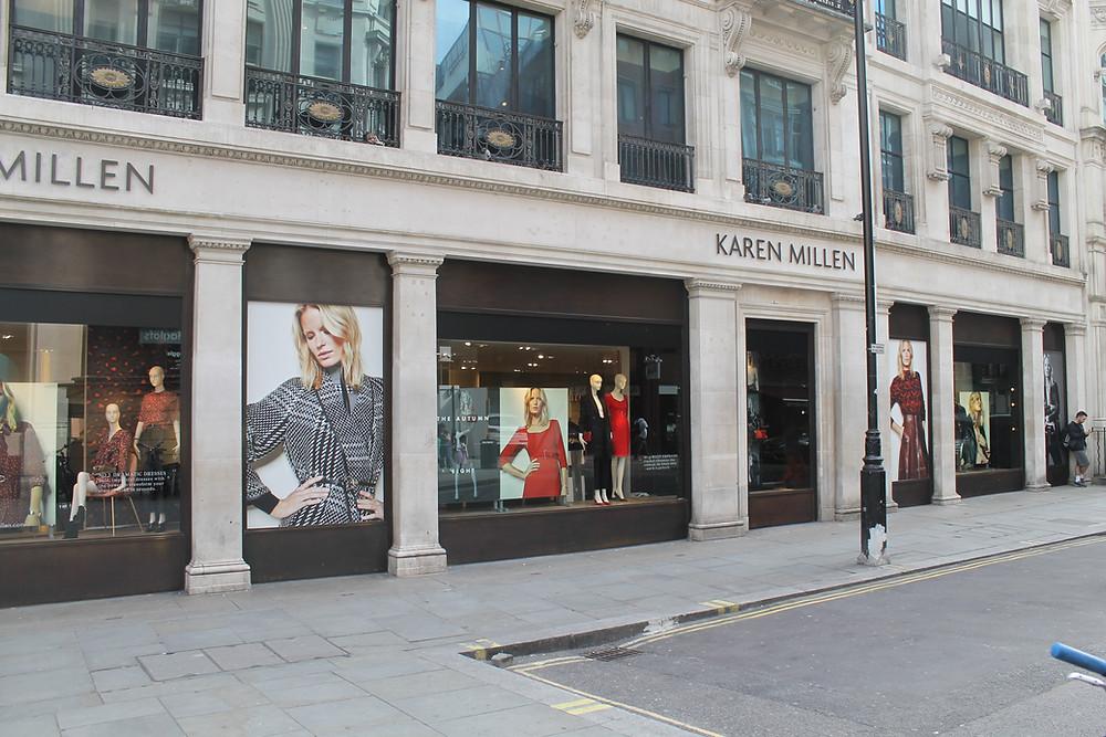 Karen Millen Regents Street Retail window