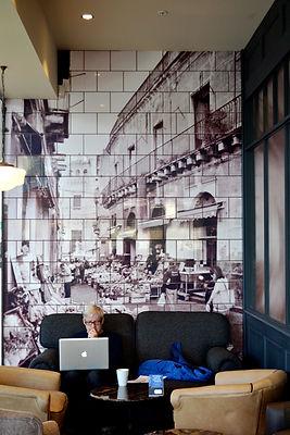 Cafe Nero Print onto tiles