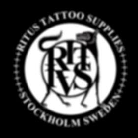 ritus logo lobo small PEGATINA NEGRO LET