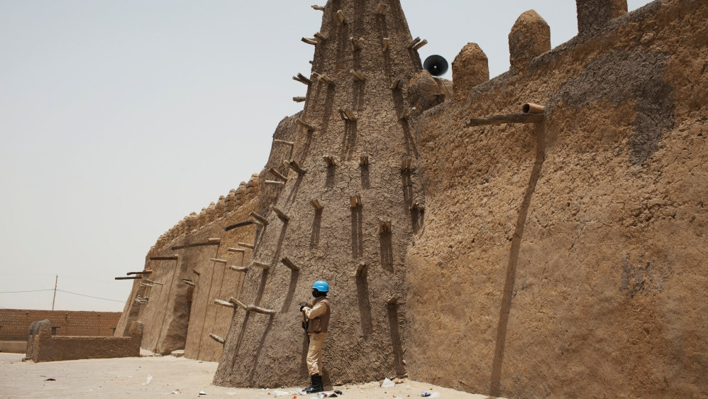 UN Peacekeeper Guarding 14th Century Mosque Attacked by Islamists in 2012, Photo: Joe Penney/Reuters