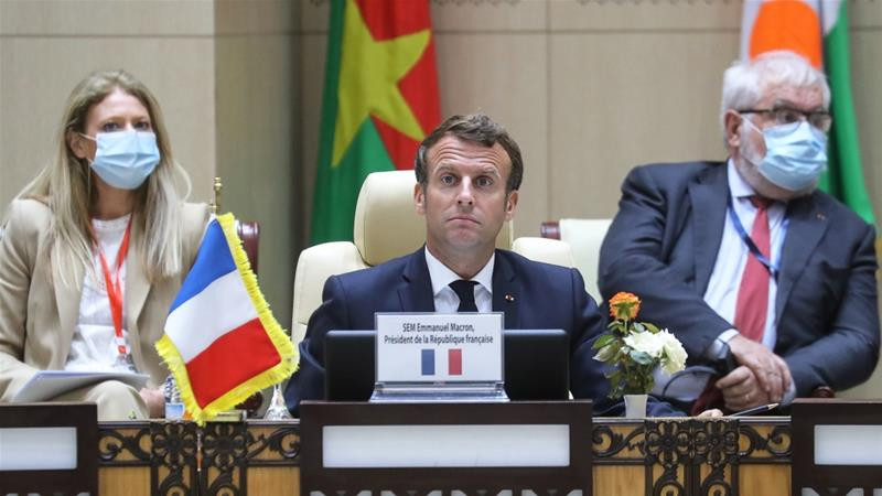 French President Macron at Sahel Summit, Photo: Ludovic Marin/Reuters