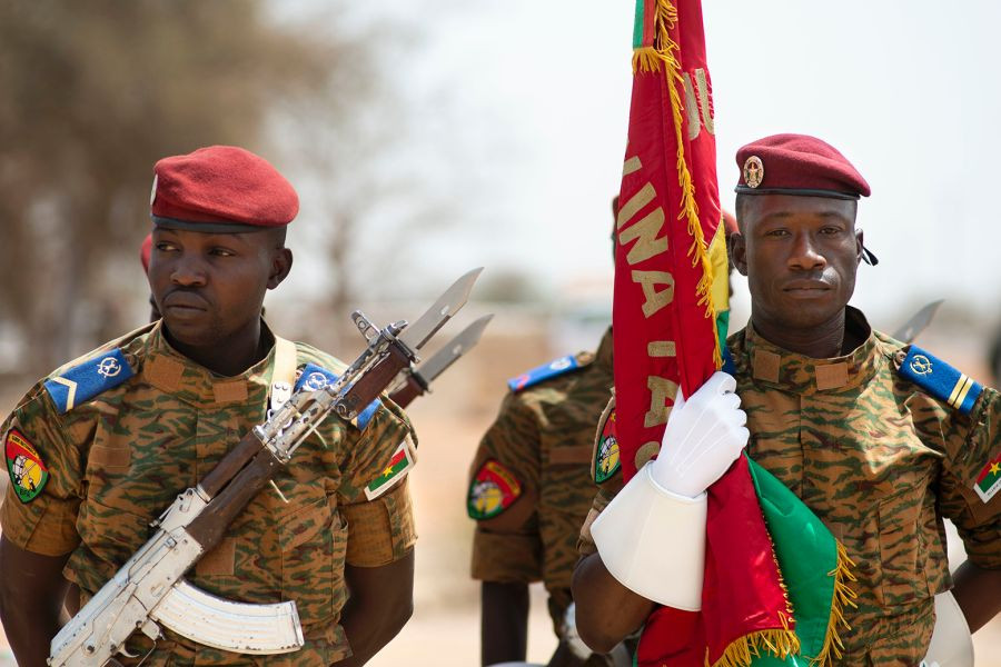 Members of Burkina Faso's Military, Evan Parker/U.S. NAVY 2019