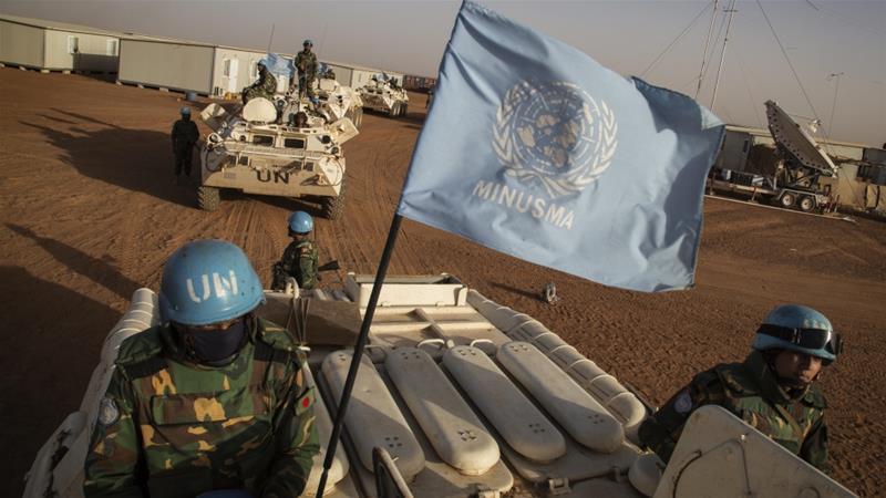 Established in 2013, the UN peacekeeping mission in Mali has some 13,000 troops [File: AP], © Al Jazeera 2020