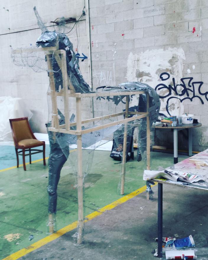 Scénographie corporate sculpture