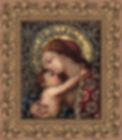 Mendoza Madonna and Child  8x10 framed -