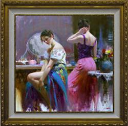 Pino Vanity 40x40 framed