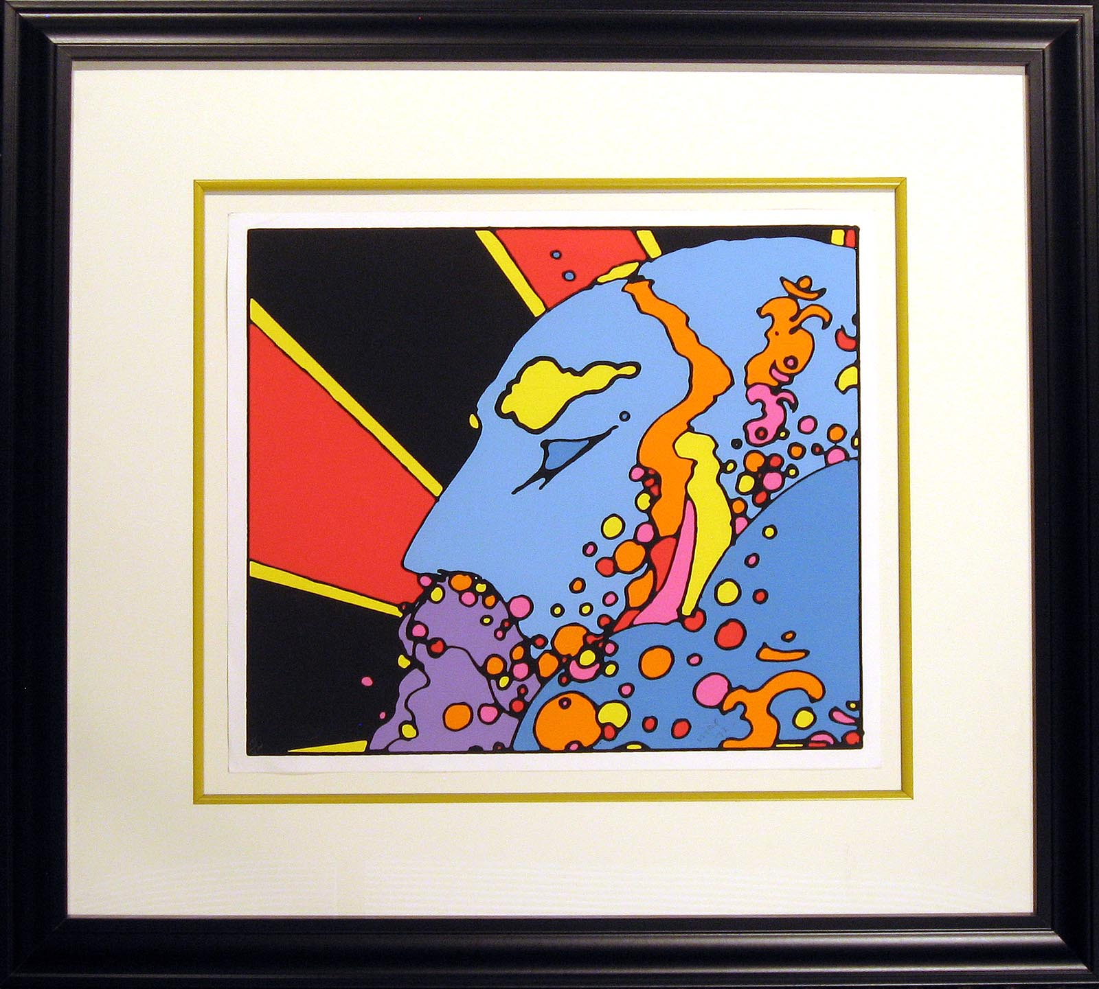 peter max Sat_Guru_Teacher_of_Light_2060_framed