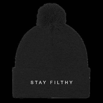 Stay Filthy Pom-Pom Beanie