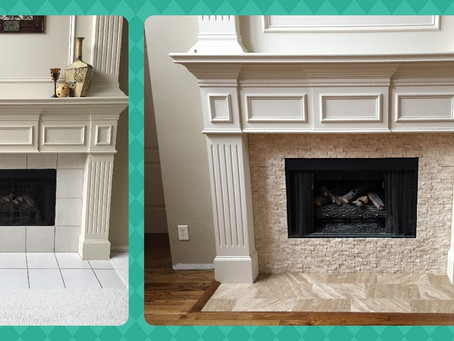 Taking a fireplace from bland to grand.