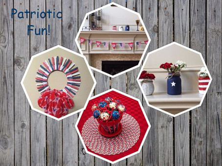 A few fun patriotic crafts.