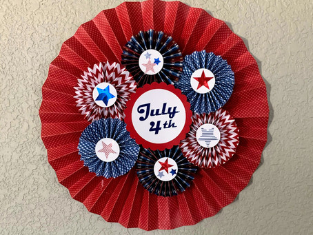Make a fun July 4th Decoration from Rosettes!