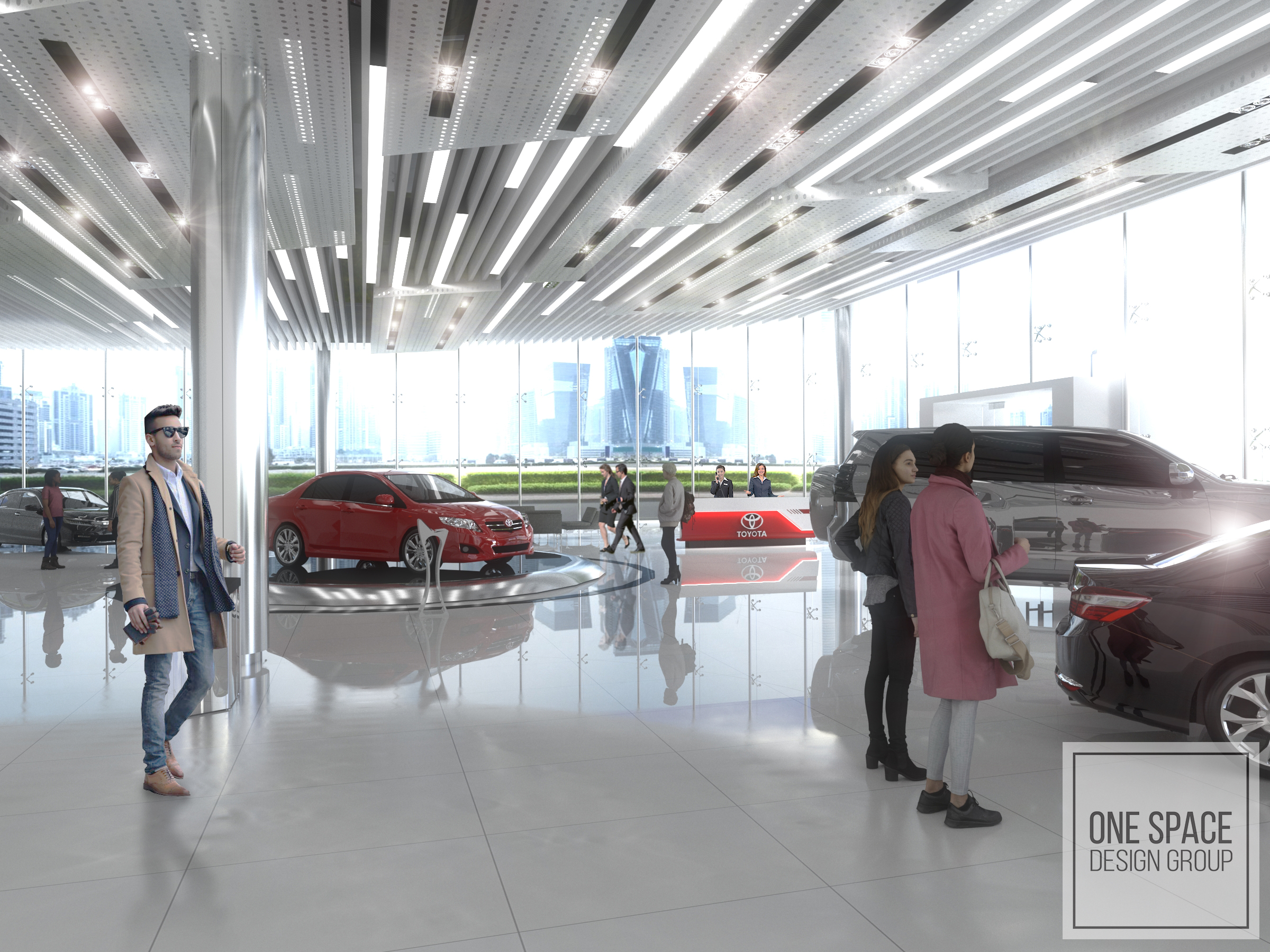 Car Showroom area