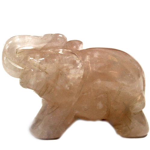 Crystal Elephant - Rose Quartz size 2 x 4 x 3 (cm)
