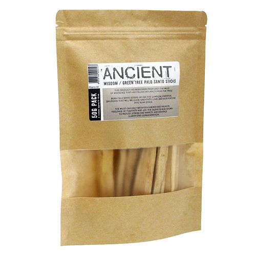 Palo Santo Green Tree Sticks 10-15 sticks 100g