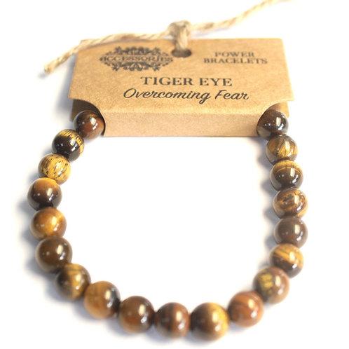 Power Bracelet - Tiger Eye For Overcoming Fear