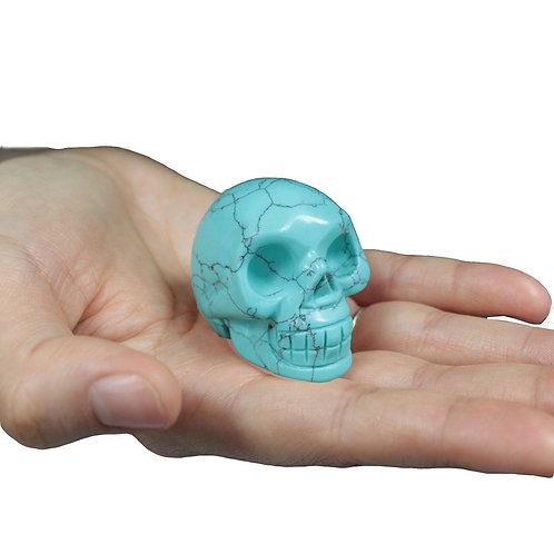 Crystal Skull - Turquiose size 2 x 4.5 x 3 (cm)
