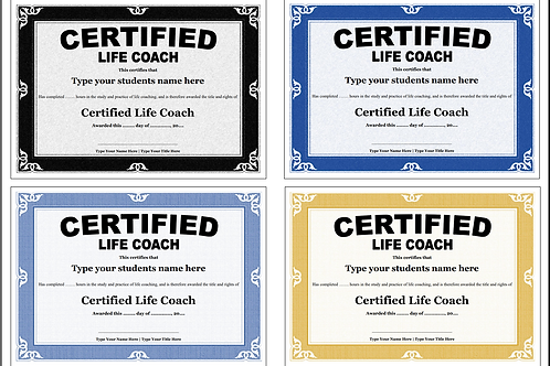 10 x Coaching Certificate templates - (Editable)