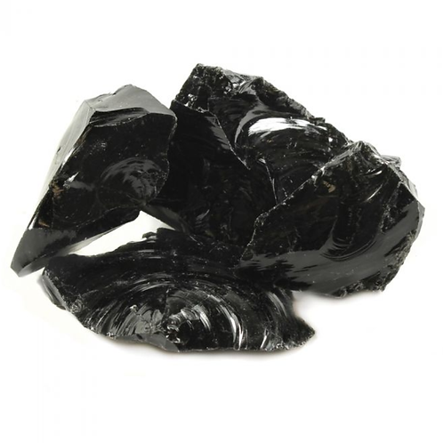 Black Obsidian Rough - Size approx. 20mm - 30mm