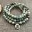 Thumbnail: Amazonite Ohm Tibetan Buddhist 108 Beads Mala Bracelet - 6mm Bead size
