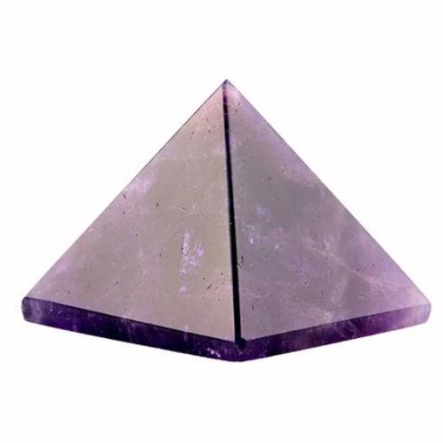 Amethyst Crystal Pyramid - Size 40mm x 40mm x 40mm