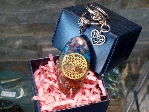 Orgonite Tree of Life Keyring with Gift Box