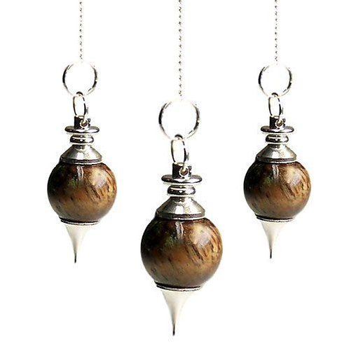 Sphere Pendulums - Tiger eye Crystal - with chain
