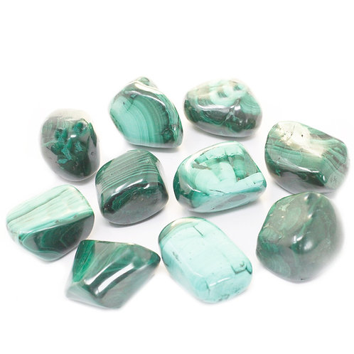 Malachite - Tumble stone (Gemstone) - Large size approx. 20mm x 30mm