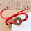 Thumbnail: 2 Stone Good Luck Chinese Emperor Money Coin adjustable rope bracelet