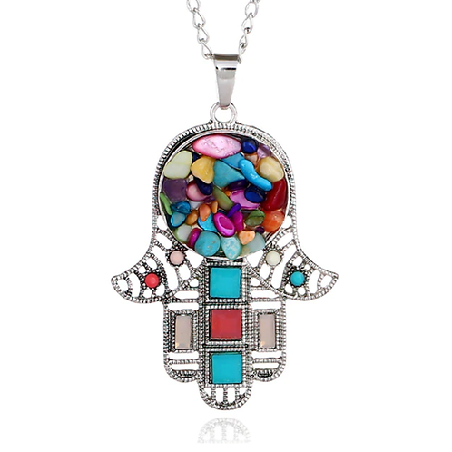 Hamsa pendant with a chain