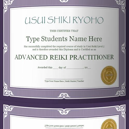 25% OFF - Reiki 2 certificate template